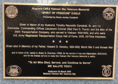 Spirit of Freedom Bronze Eagle Plaque