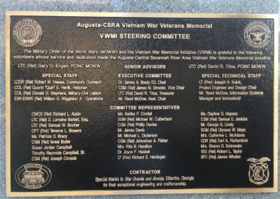 VWMI Steering Committee Bronze Plaque